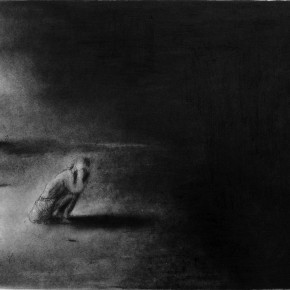 Facing the dark 45x70cm inkcharcoal on paper 2012 290x290 More images