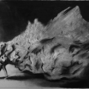 He dragged himself out of the darkness 45x70cm inkcharcoal on paper 2012 290x290 More images