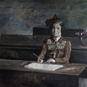 Rosette van beugen 230x150cm acryl charcoal on linnen 2013 Alle Jong photograph by Reyer Boxem 290x290 More images