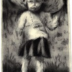 6. My Mother 11x6 cm ink charcoal on 18th century paper 2013 145x145 More images